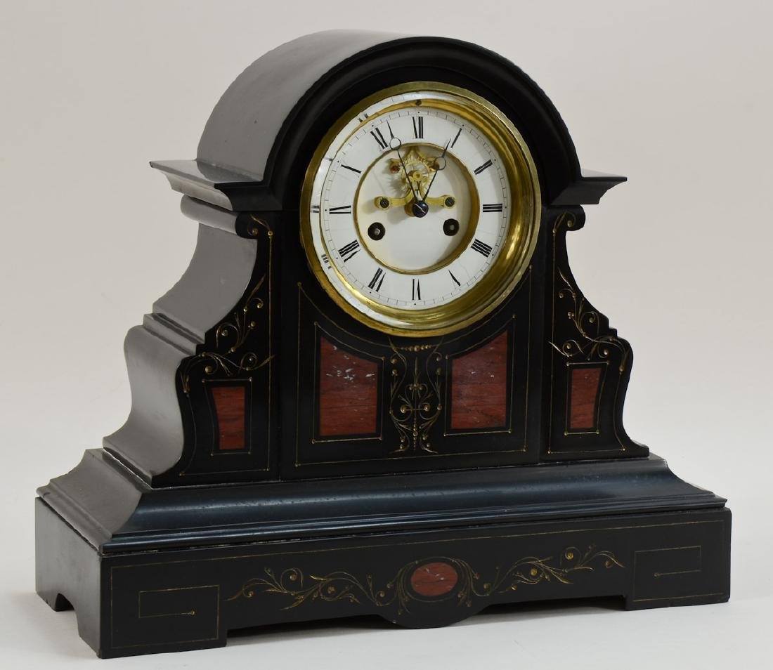 Antique French Slate Mantle Clock