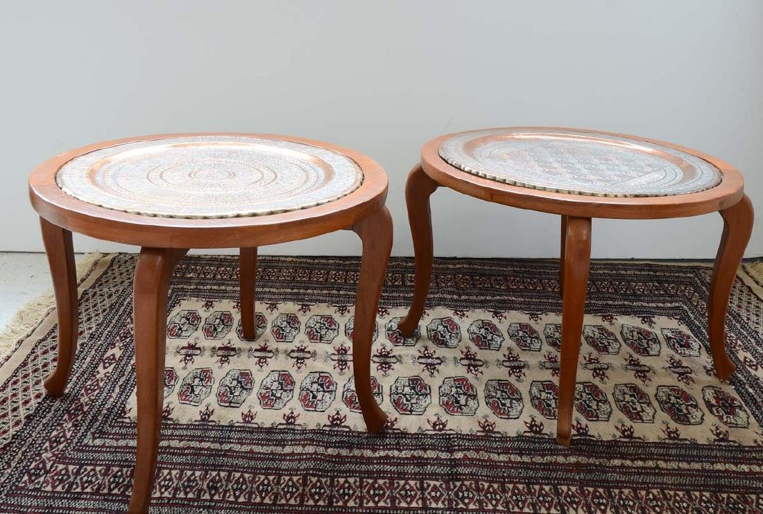 Two Middle Eastern Tray Tables