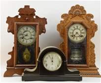 Three Antique Clocks