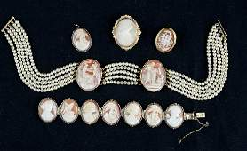 Antique Shell Cameo Group