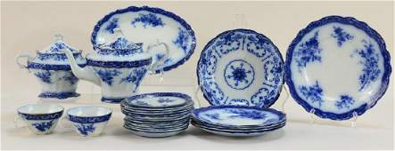 24 pcs Flow Blue China