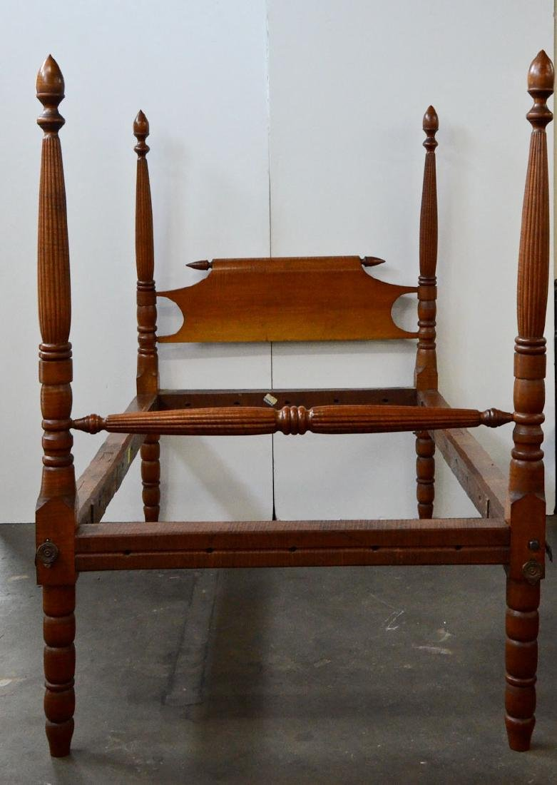 Antique Tiger Maple Rope Bed