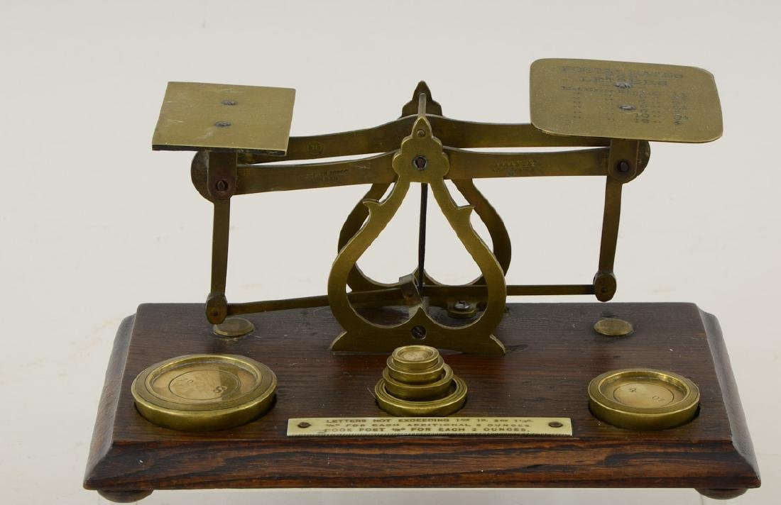 Antique Brass Postal Scale