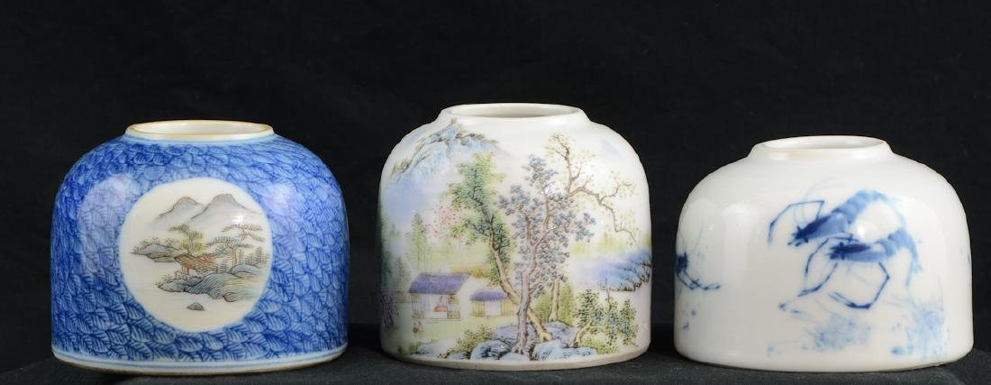 3 Chinese Porcelain Water pots