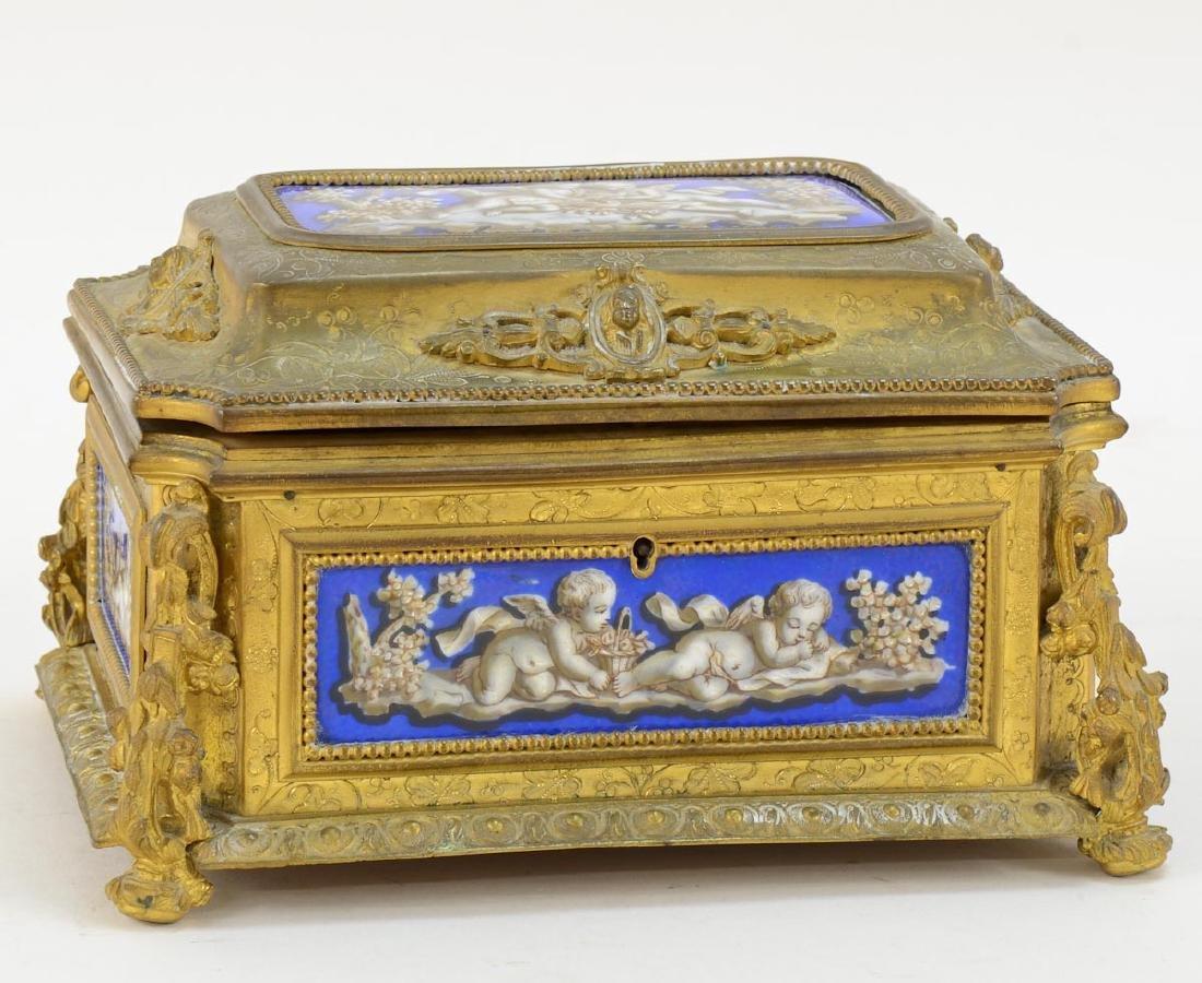 French Sevres Jewel Casket