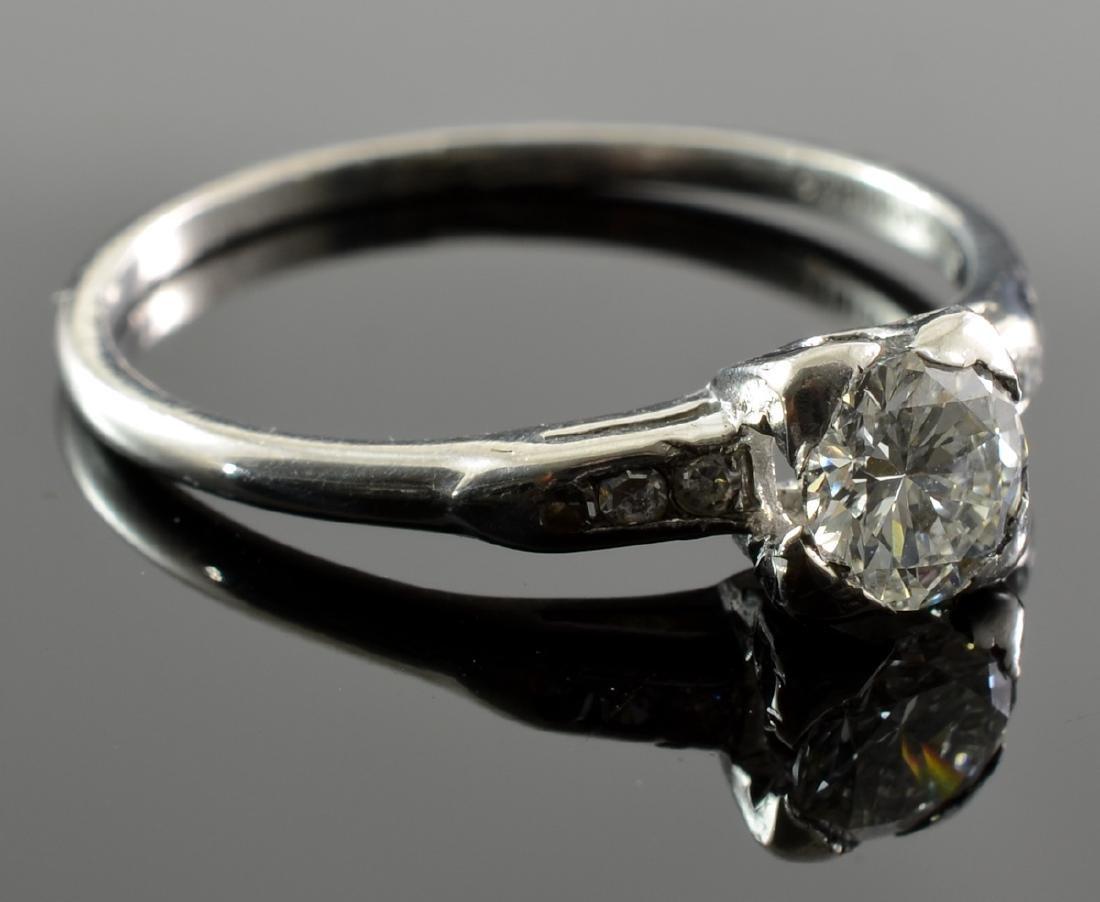Ladies Platinum Diamond Solitaire Ring