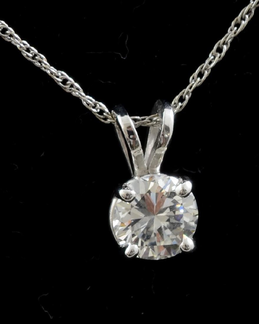Ladies Diamond Solitaire Necklace