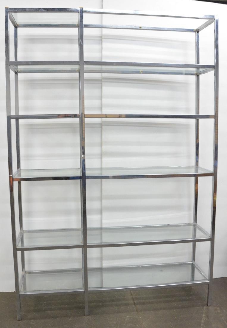Large Modern Chrome Wall Shelf