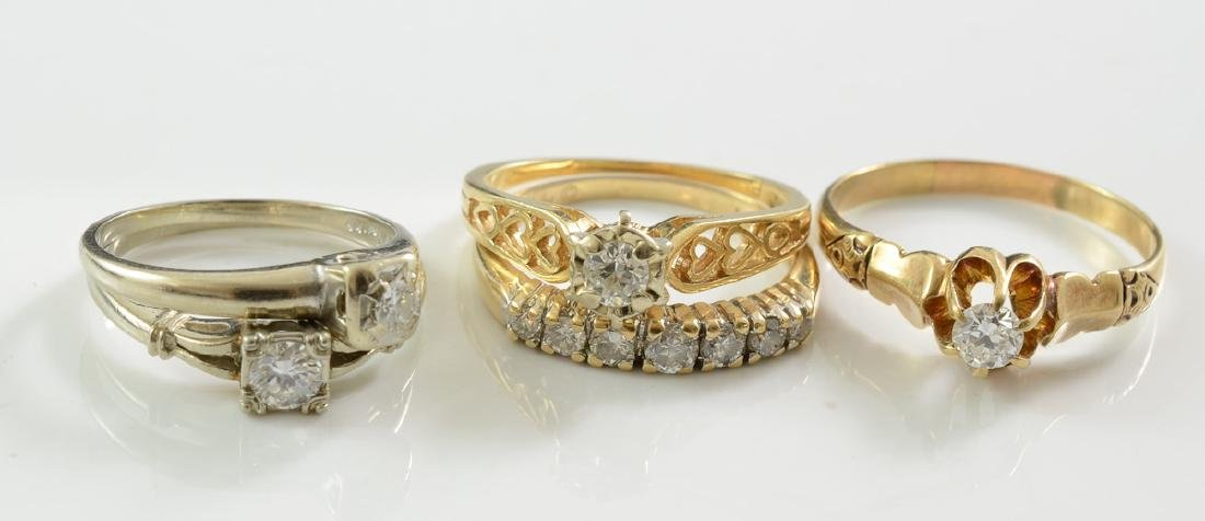 Collection of Estate Diamond Rings