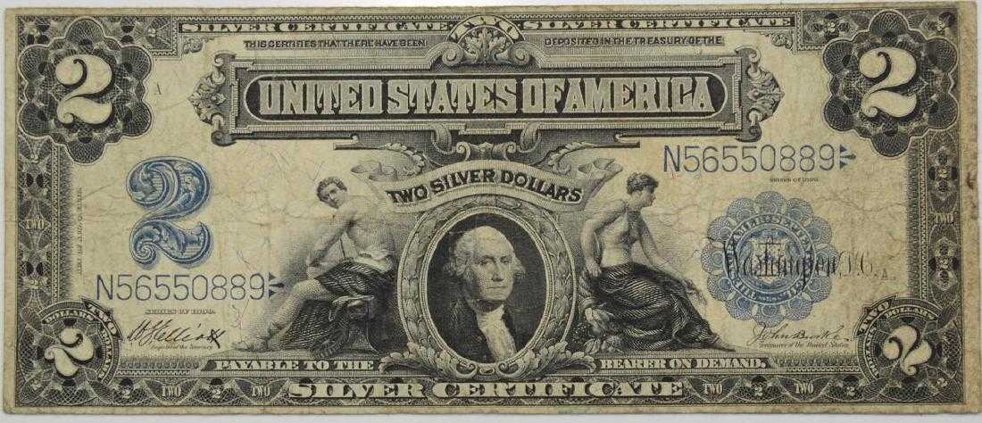 Series Of 1899 Two Dollar Silver Certificate