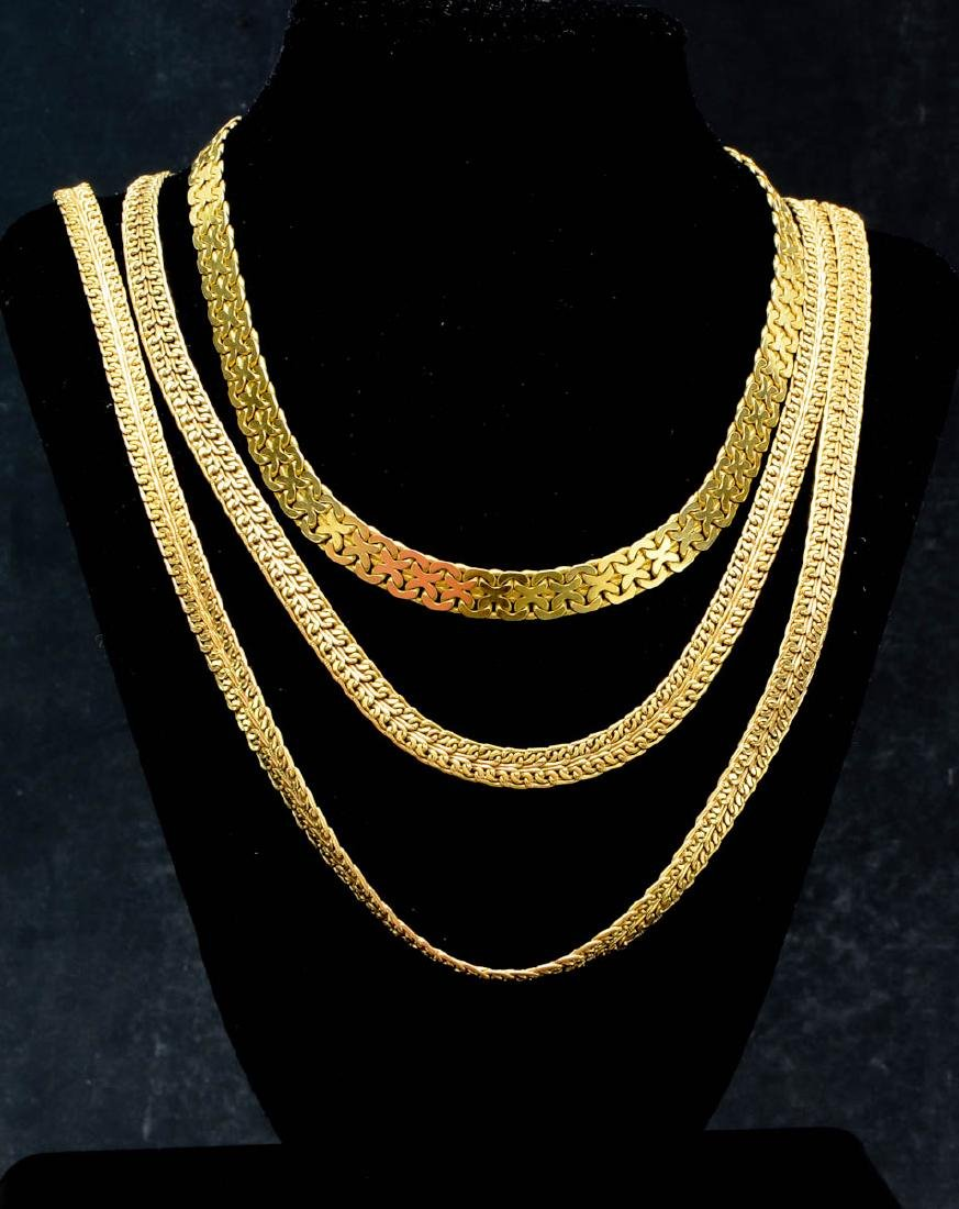 Three 14K Gold Chains