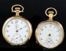 Two Mens Antique Pocket Watches
