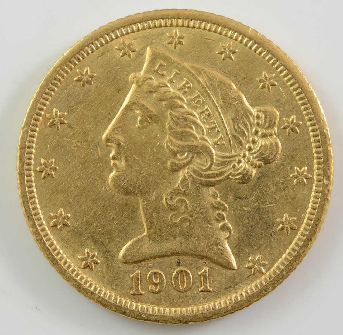 1901-S $5 Liberty Gold Half Eagle Coin
