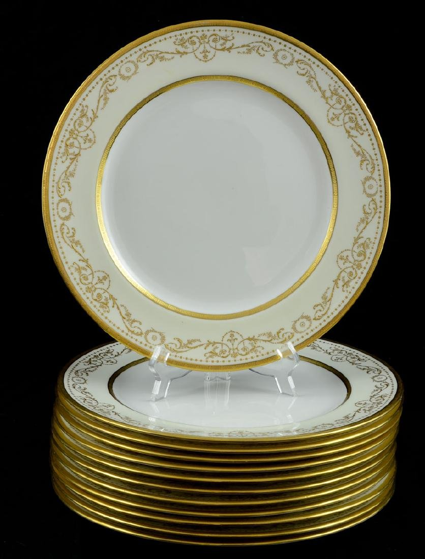 12 Royal Gold Doulton plates