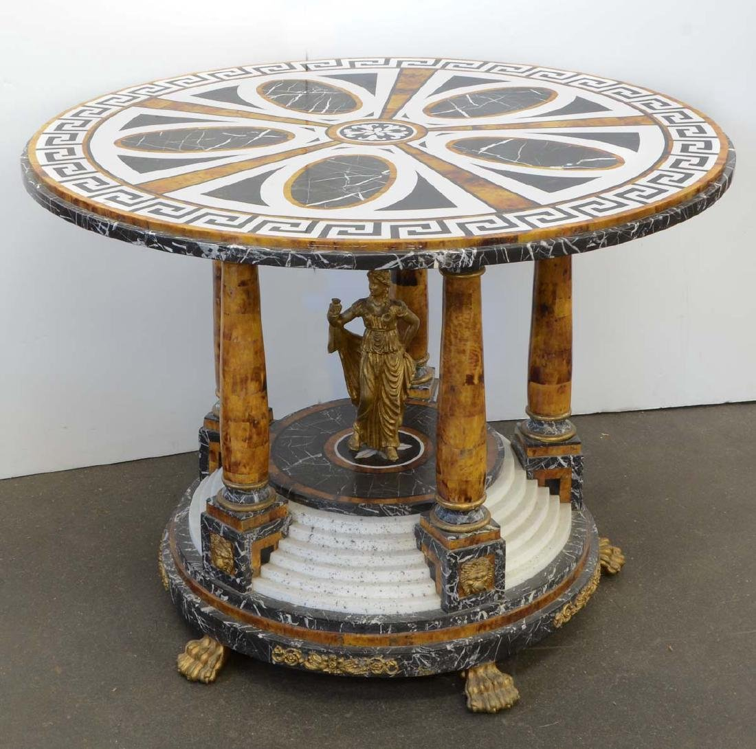 Neoclassical Marble Center Table
