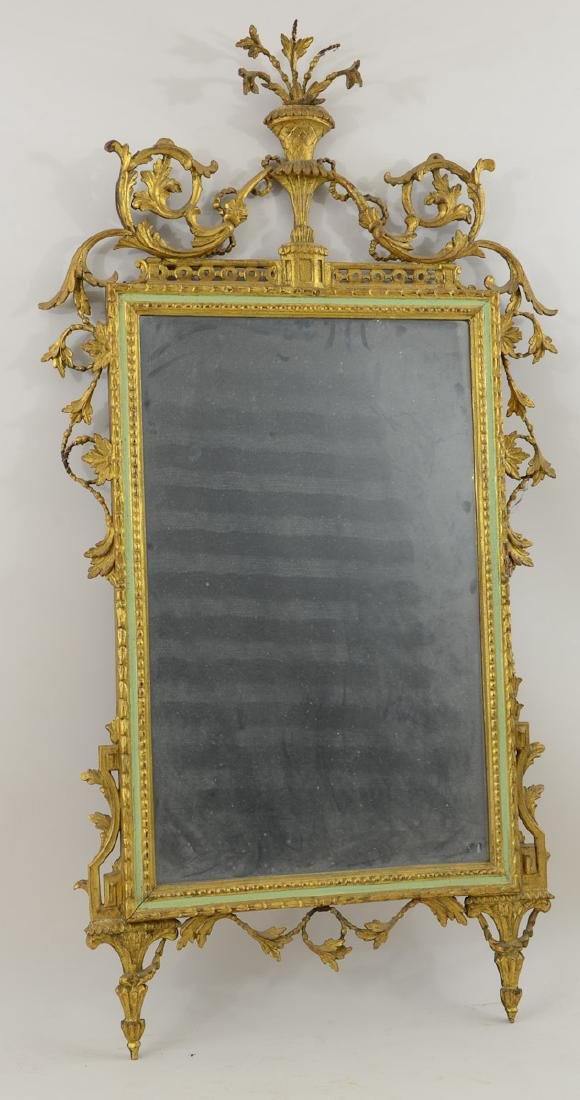 Antique Adams Style Gilt Mirror