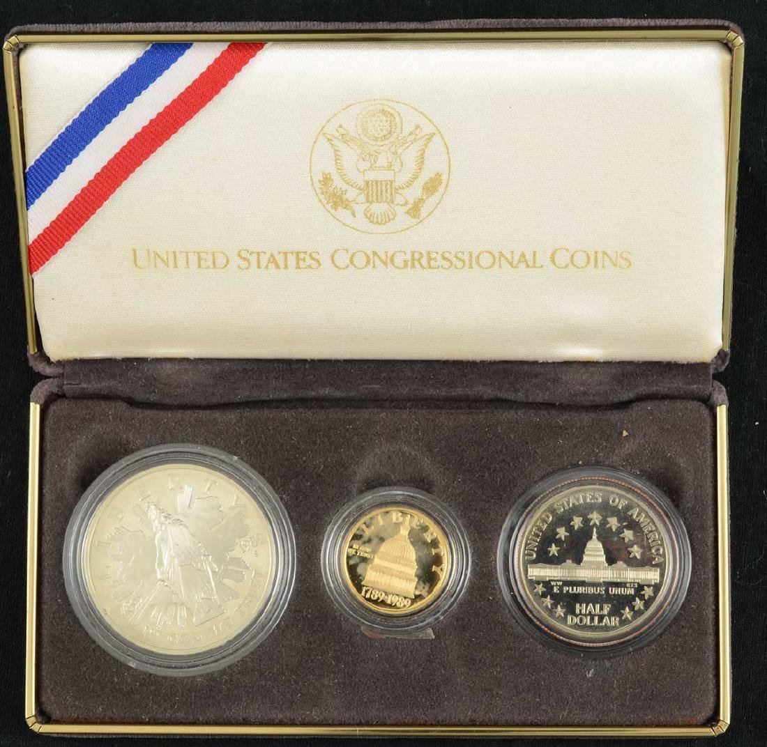 US Congressional Coin Gold and Silver Set