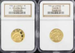 1986-W Liberty $5 Gold Proof and UNC