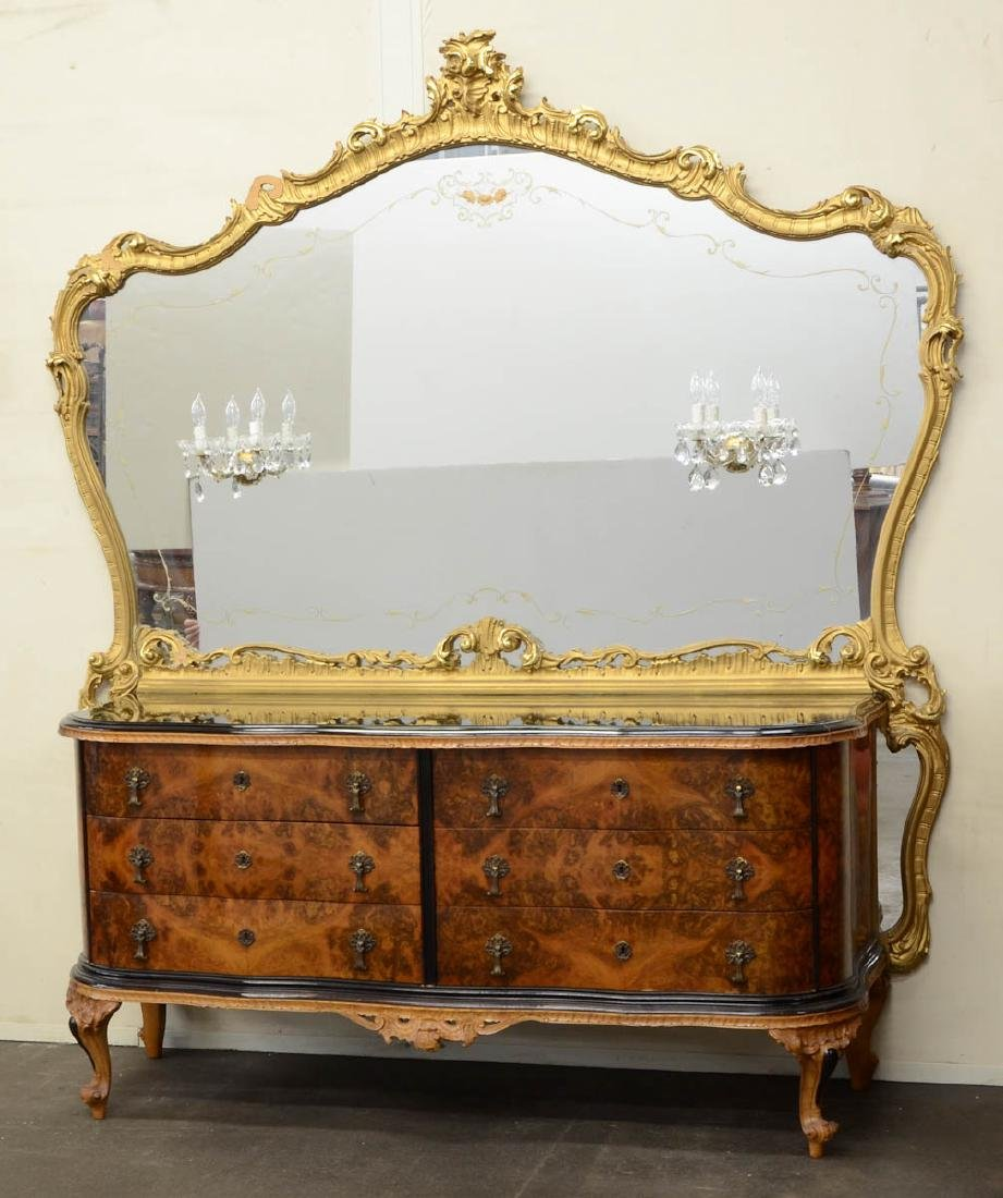 Giltwood Italian Bedroom Suite