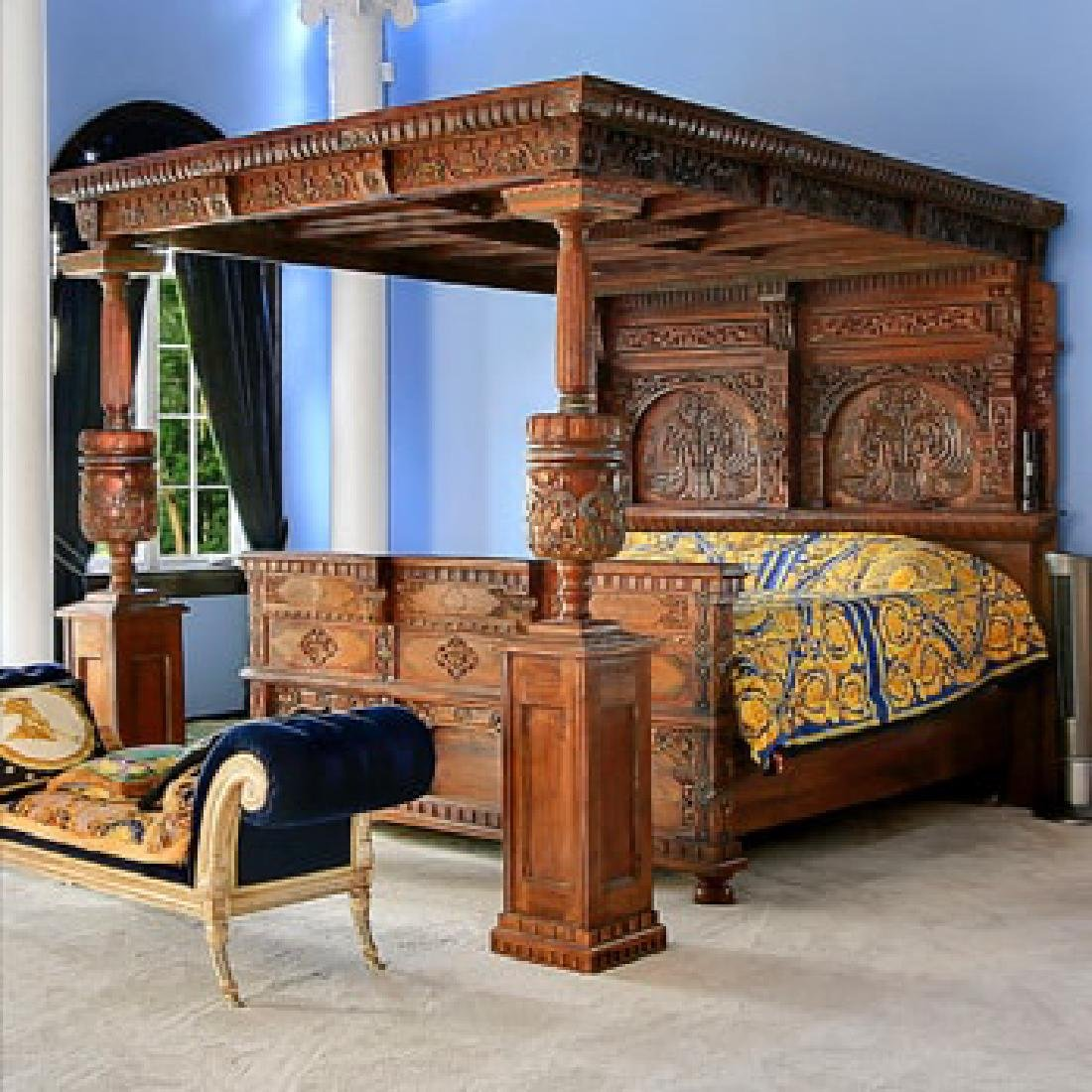 Mahogany Palace Bed