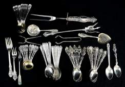 Mixed Sterling Silver Flatware Group