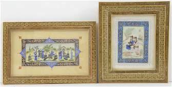 Two Persian Paintings on Bone