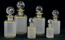 French Crystal and Gilt Vanity Set