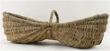 Large Antique Buttocks Basket