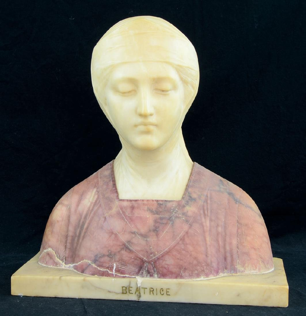 Antique Marble Bust of Beatrice