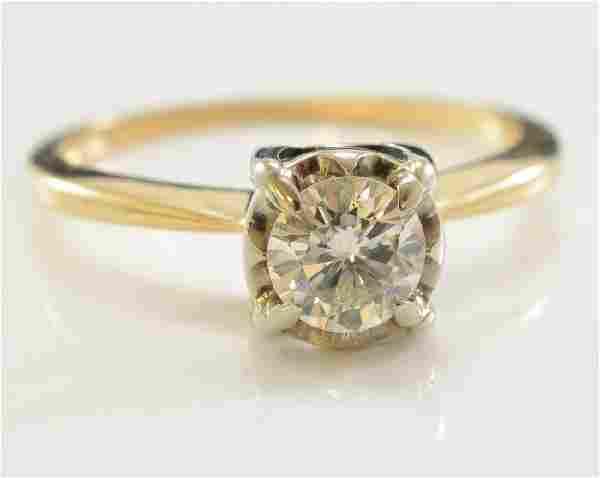 Ladies 14k Diamond Solitaire Ring