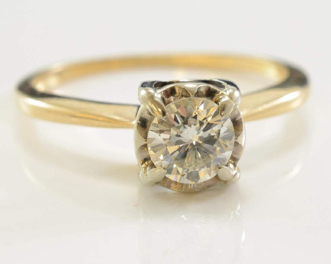 Ladies 14k Diamond Solitaire Ring