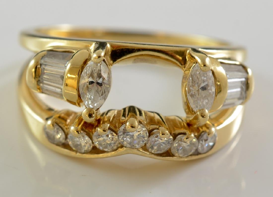 2 Ladies 14K Diamond Ring Enhancers