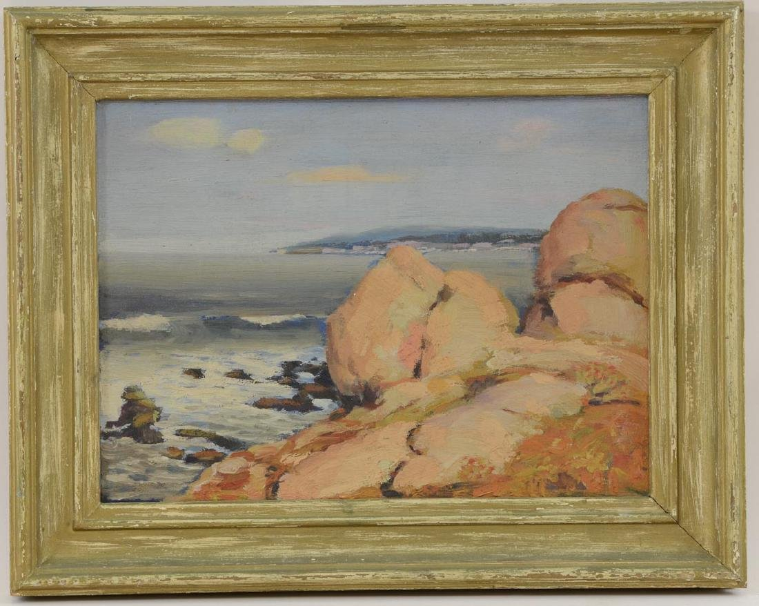 After Guy Rose: Seascape with rocks