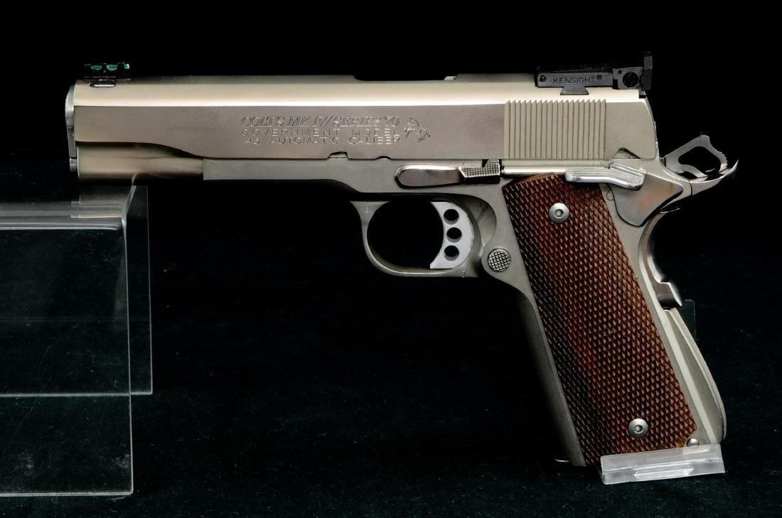 Colt 1911 Gov't MK IV Ser 70 .45 e-nickel