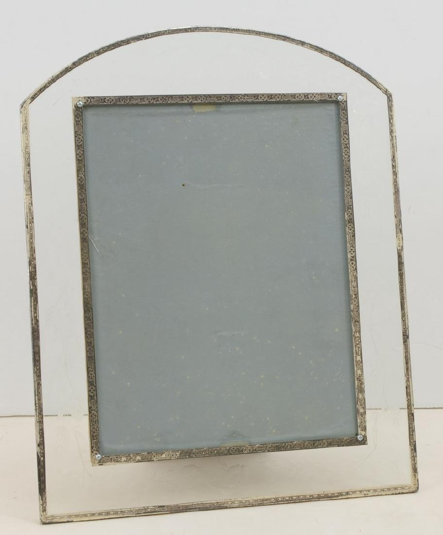 Etched Glass & Silver Overlay Frame