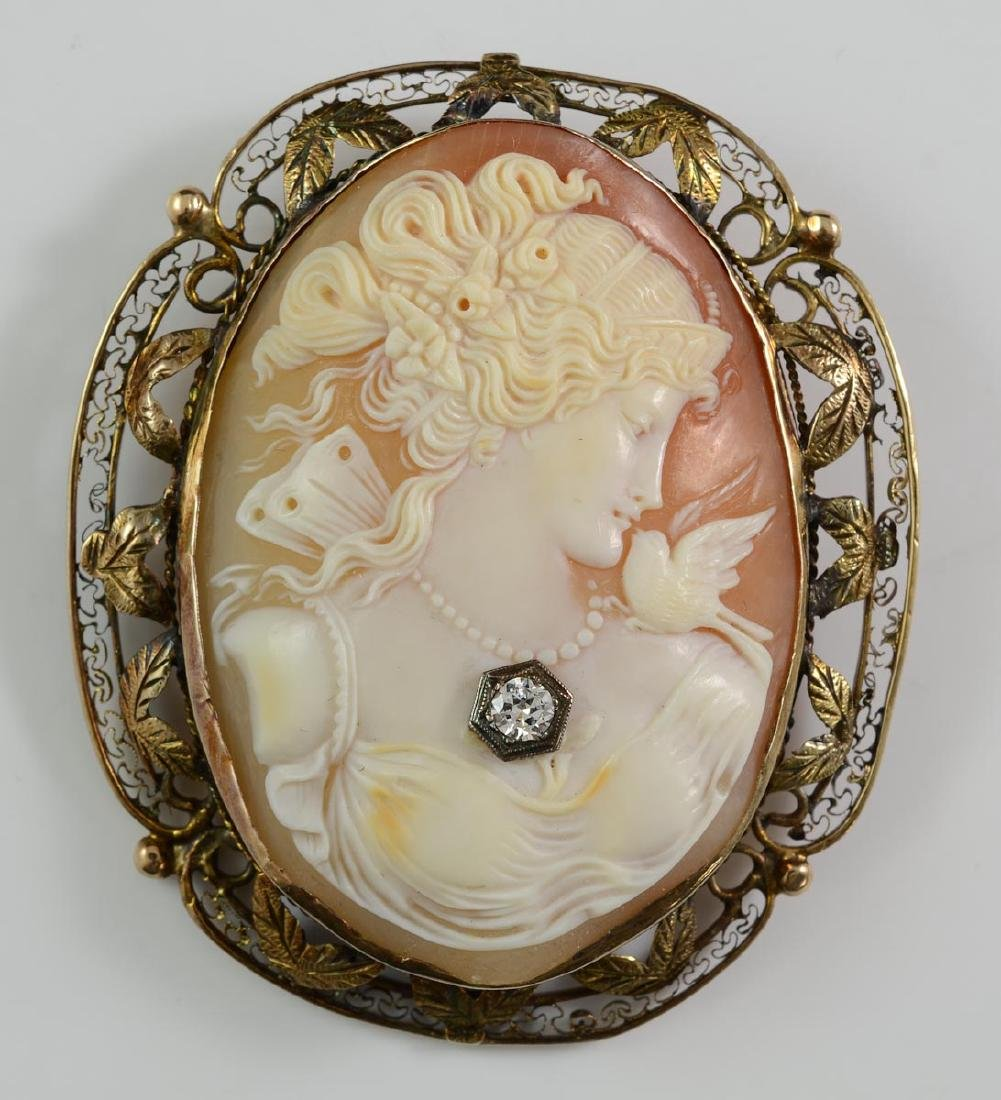 Antique Shell Carved Cameo