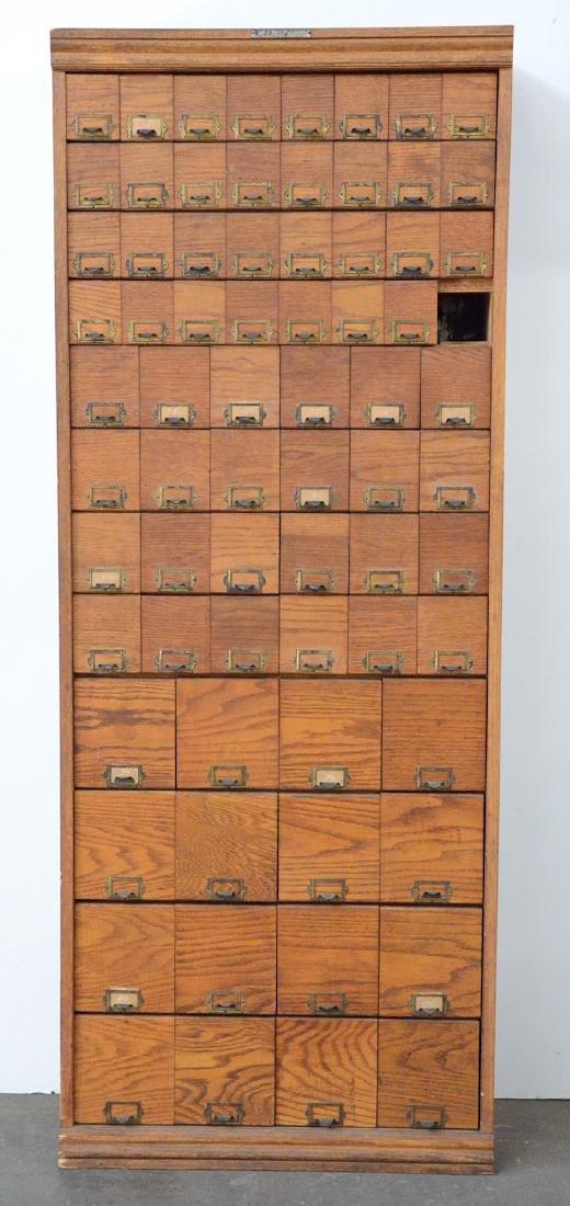 Heller & Co. 72 Drawer Oak Cabinet