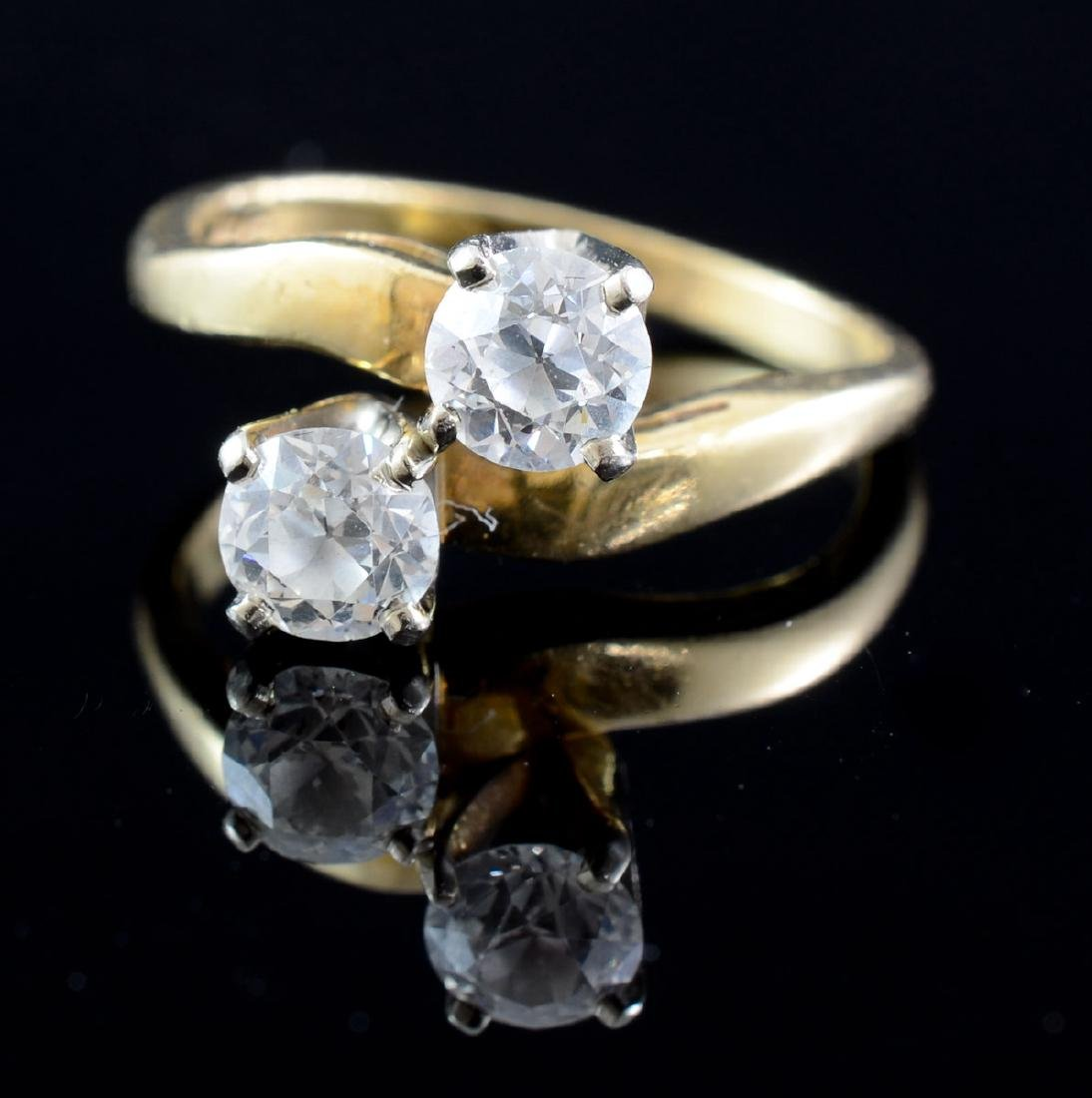 Ladies Diamond Bypass Ring