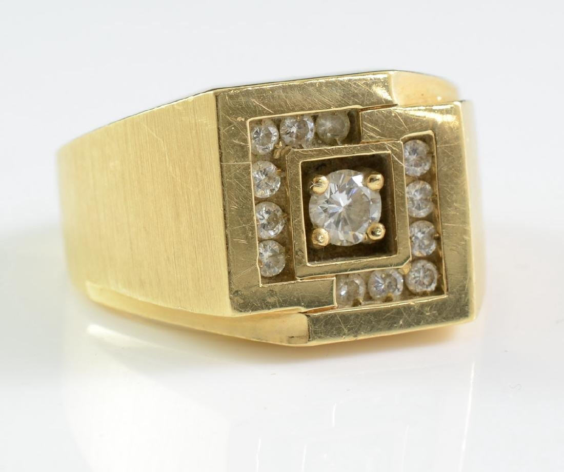 Mens 14K Diamond Ring