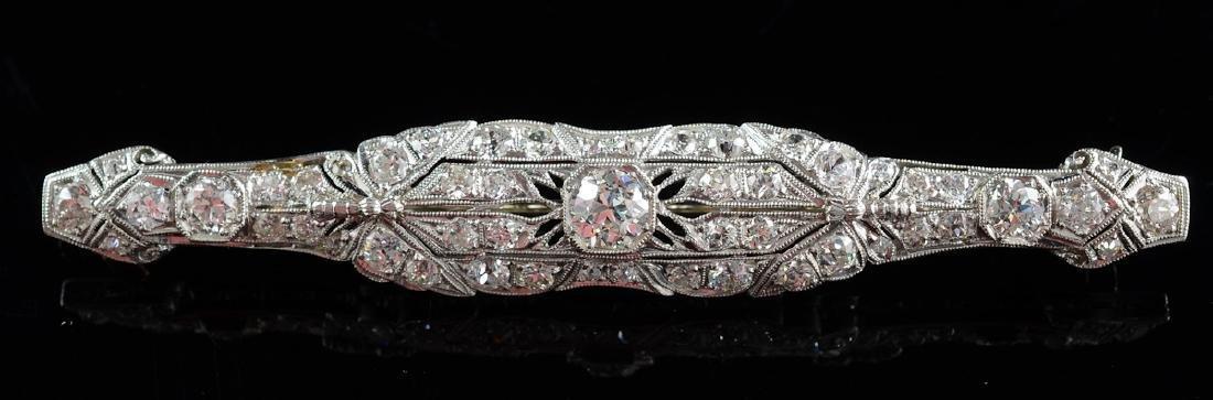 Art Deco Diamond Bar Pin