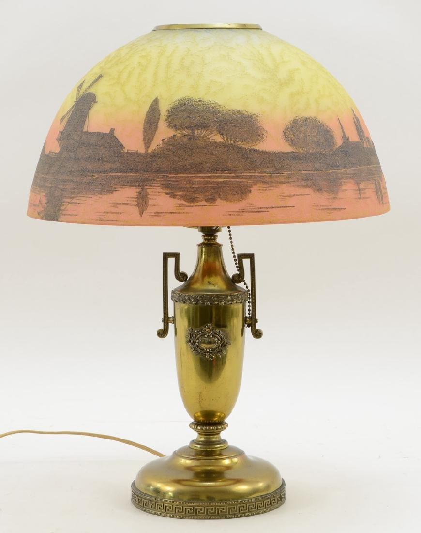 Handel Painted Table Lamp