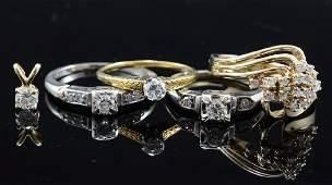 5 pcs Estate Diamond Jewelry