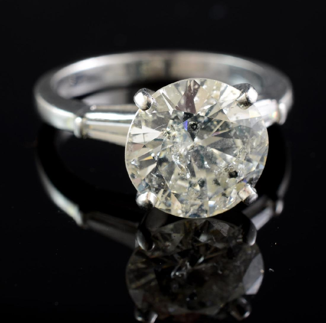 4 CT Large Diamond Solitaire Ring