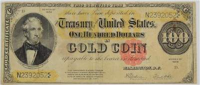 Series of 1922 $100 Gold Certificate
