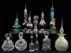 13 Art Glass Perfume Bottles