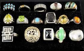 26 Sterling Silver Rings