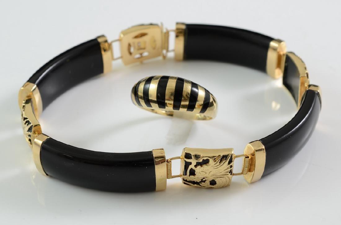 14K Ladies Onyx Jewelry