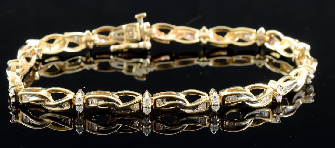 Ladies 10K Diamond Tennis Bracelet