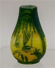 French Art Glass: Devez Cameo Vase