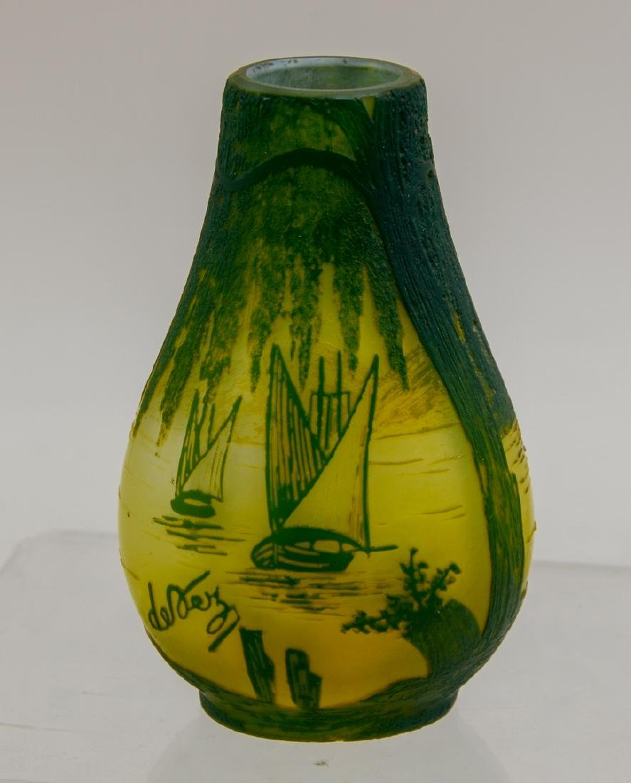 French Art Glass: Devez Cameo Vase